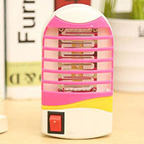 Nightlight,YJYdada LED Socket Electric Mosquito Bug Insect Trap Night Lamp Killer Zapper (Hot Pink)