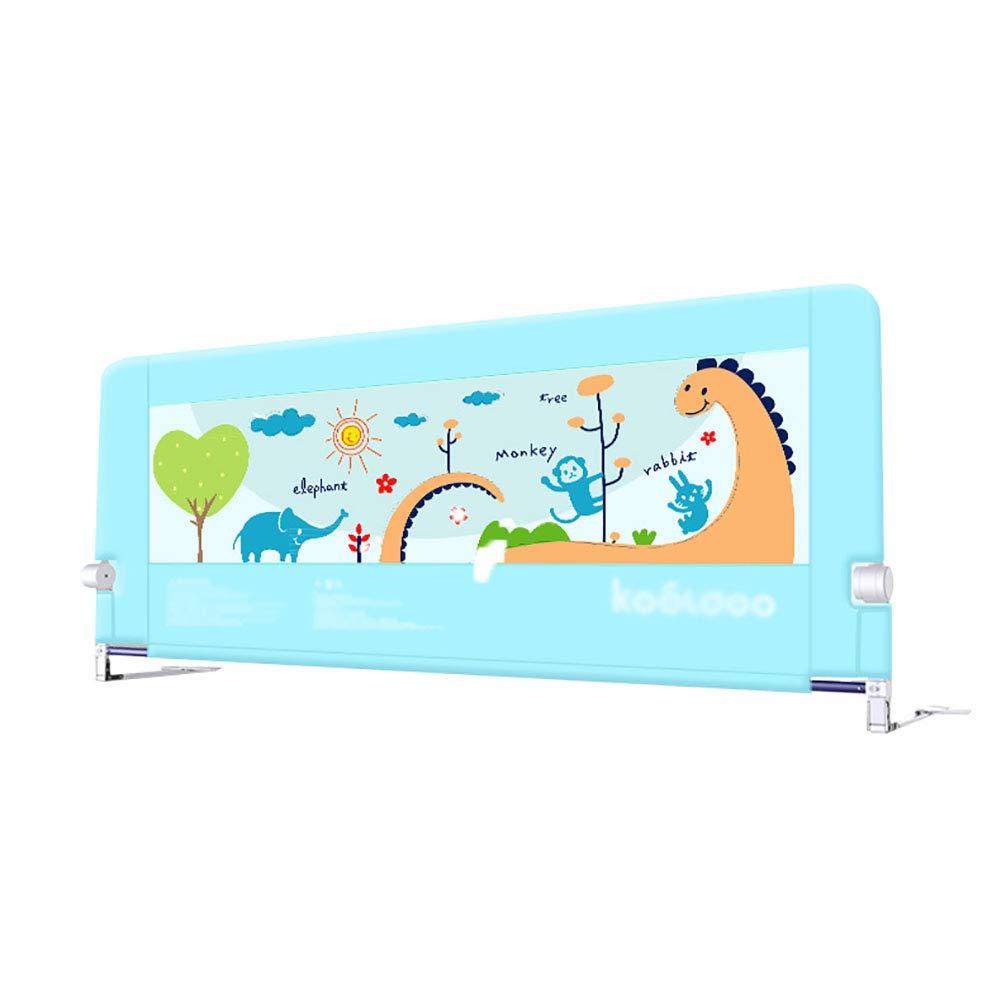 幼児用ベッドガードレール高さ調節可能な安全ベビーベッドレールフルサイズ通気性メッシュレールクイーンベッド用、1サイド、高さ68 Cm (色 : ライトブルー, サイズ さいず : 150cm) 150cm ライトブルー B07MS8KFFP