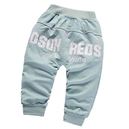 d40b45fce33 Baby Girls Boys Kid Cartoon EyesLetter Printed Warm Pants Long Trousers