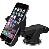 Car Phone Mount, Charque 2-in-1 Dashboard Mount & Windshield Mount 360° Adjustable Rotating One-Touch Design Phone Holder, for iPhone X/XS/XR, Samsung Note, Google Nexus, LG, Huawei, Sony