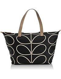 Etc Giant Linear Stem Zip Shopper Shoulder Bag