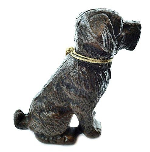 LuLu Decor, Cast Iron Dog Door Stopper, Doorstops, Sculpture, Dog Statue (Vintage Black 4.40 ()