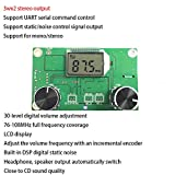 Anmbest DC 3-5V PLL DSP Digital FM Stereo Radio Wireless Village Campus Broadcast Receiver Module with LCD Display