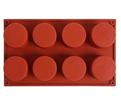 DingSheng Torta de hielo Molde redondo de silicona grande, Cubos Paquetes de alimentos Pastel de