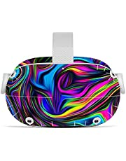 Oculus Quest 2 VR Headset and Controller Sticker, Vinyl Decal Skin for VR Headset and Controller, Virtual Reality Protective Accessories - Colored Lines