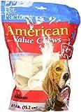 Pet Factory American Beef Hide Bones Chews for Dogs (6 Pack), Medium/6-7''