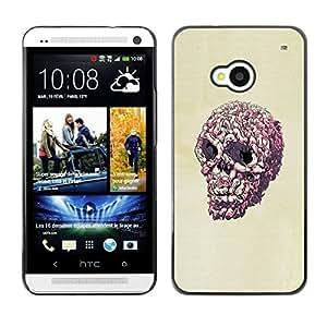 All Phone Most Case / Oferta Especial Duro Teléfono Inteligente PC Cáscara Funda Cubierta de proteccion Caso / Hard Case HTC One M7 // Pink Pop Art Skull