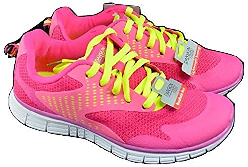 NEW! Girls Running shoes Sneakers Youth Size (3) Danskin Brite Pink/Yellow