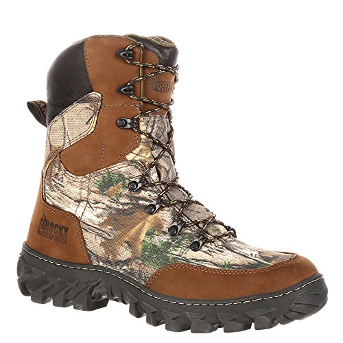 Leather Brown Grain Rocky Full Nylon Rks0272 Xtra Calf Men's RealTree Mid Boot q1pX71v