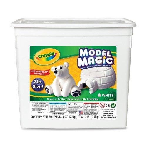 Wholesale CASE of 10 - Crayola Model Magic Modeling Clay-Crayola Model Clay,2lb,8-1/2''x5-1/2''x8-1/2'',White by CYO