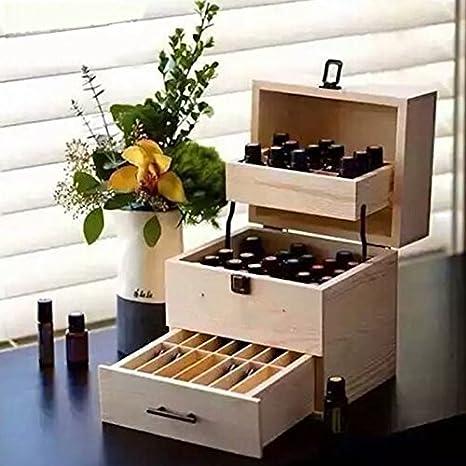Piso 3 ätherisch aceite Caja de madera caja de madera caja caja ...