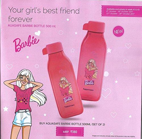 Tupperware 500 ML Square Barbie Bottle  Set of 2