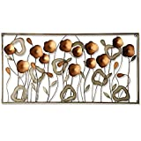 Metal Flower Field Wall Art, Measures 40'' L x 20'' W | 100% metal