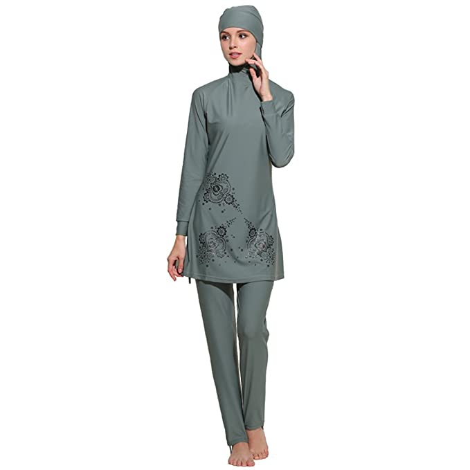 Amazon.com: yongsen modesto musulmán islámica Burkini las ...