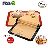 Silicone Baking Mats 2-Pack...