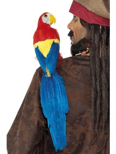 Smiffy's Parrot Prop,  19.6inches, Multi-Coloured, (Pirate Parrot Costume)