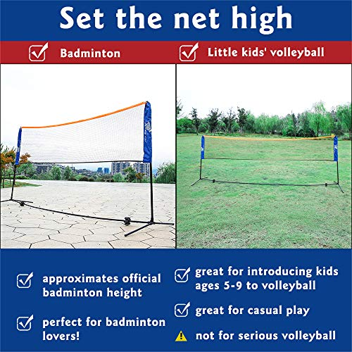 Bogalen Height Adjustable Badminton and Tennis Portable Net Set with 10-Feet Net, 4 Rackets and 3 Shuttlecocks by Bogalen (Image #4)