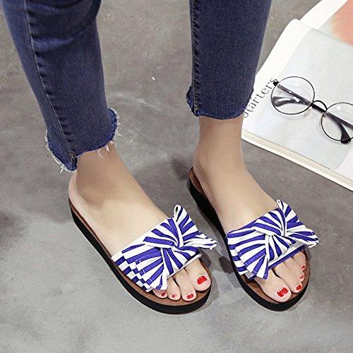 5 spessi B scarpe da pantaloni estate UK4 EU37 Colore dimensioni spiaggia Amazing pigiama moda Sandali donna CN37 fondo C indossare pesante 5 xgYHwCnq