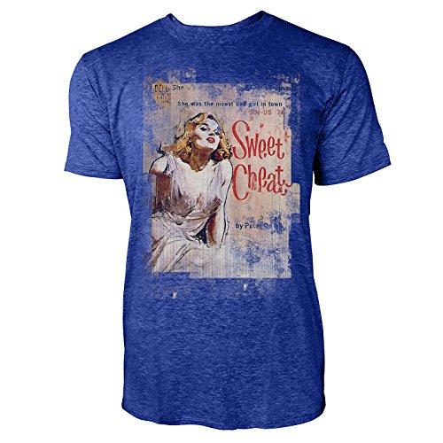 SINUS ART® Swee Cheat Herren T-Shirts stilvolles blaues Cooles Fun Shirt mit tollen Aufdruck