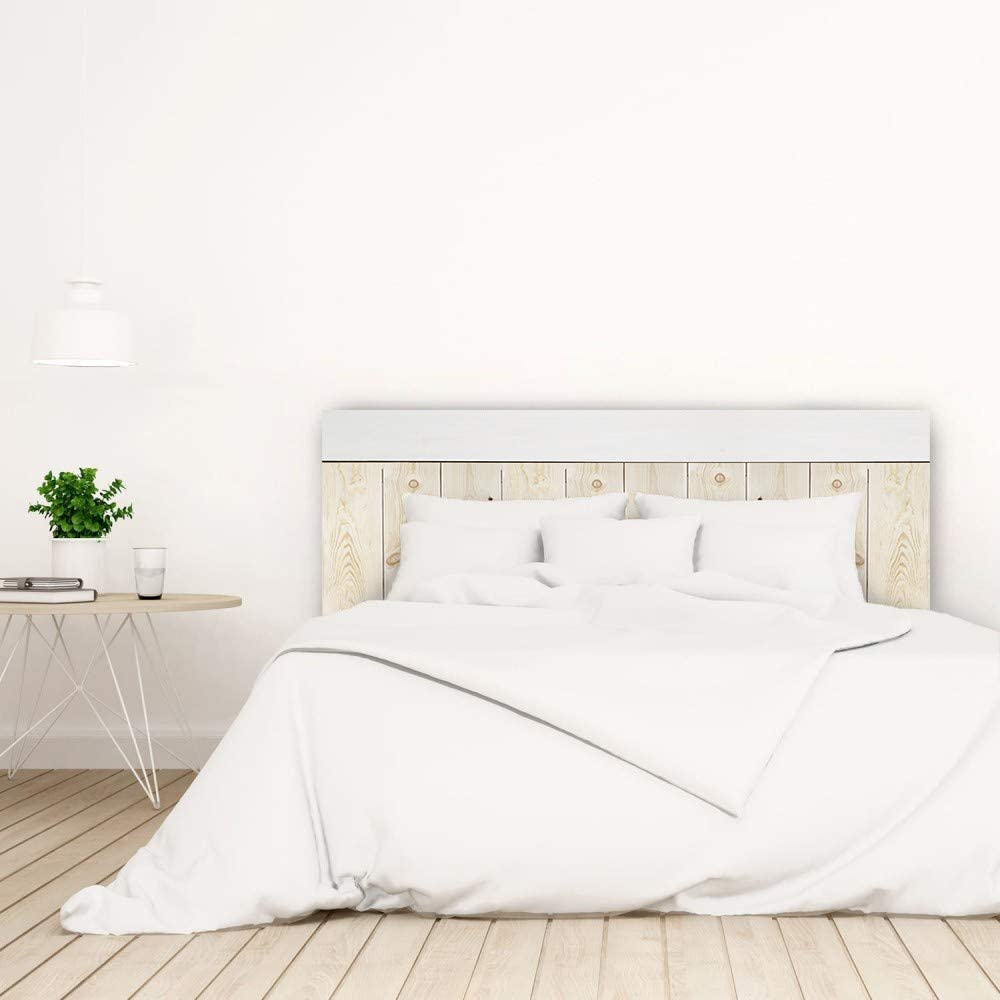 Bois de Pin Decowood Ardoise 100x60 cm Naturel et Vieillie T/ête de lit pour Chambre /à Coucher Crooked Forest avec Baguettes Combin/ées