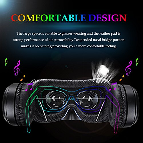 3D VR Glasses VR Virtual Reality with Bluetooth Remote Controller for 3D Games Movies& Lightweight with &Adjustable Pupil and Object Distance for Apple iPhone More Smartphones by EKIR (Image #2)