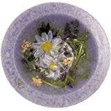 Lavender and Chamomile Scented Flameless Decorative Candle - 7'' in Diameter - Comes in Gift Box