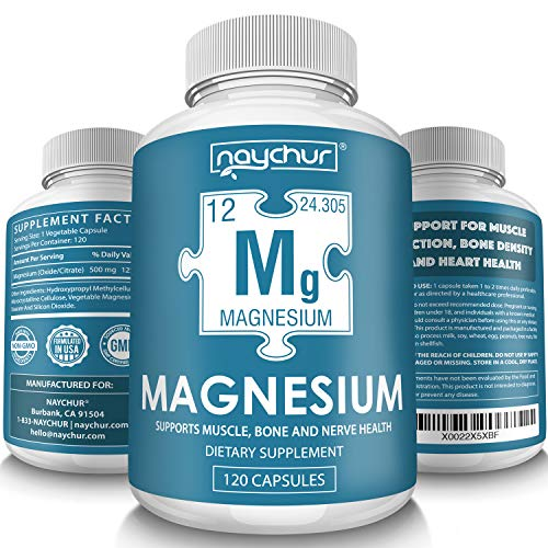 Magnesium Citrate Supplement Complex - Muscle Relaxer Pills Recovery - Restless Leg Syndrome Relief Leg Cramps Defense - Vegan Sleep Aid for Women Men Pure 500mg Non-GMO - 120 Vegetable Capsules (Best Magnesium For Muscle Cramps)