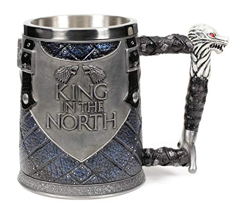 Collectible King - Nemesis Now King of The North Tankard - Collectible Big Game of Thrones Mug -Wolf Winter is Coming