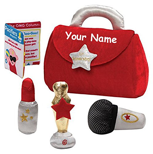 Personalized GUND My Little Superstar Plush Stuffed Baby Playset with Mini Plush Accessories