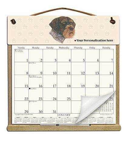 Calendar Pointer (2018 CALENDAR - PERSONALIZED GERMAN WIREHAIRED POINTER REFILLABLE CALENDAR HOLDER)