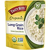Tasty Bite Organic Long-Grain Rice 8.8 Ounce 6 Count, Organic White Rice, Fully Cooked, Ready to Serve, Microwaveable, Vegan Gluten-Free No Preservatives