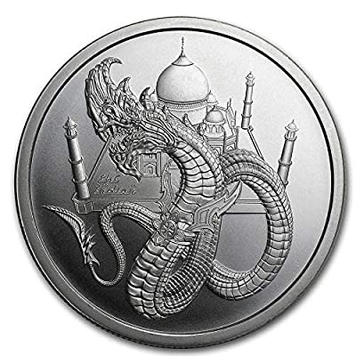 1 Troy oz The Indian Dragon .999 Pure Silver Round - World of Dragons Series: Industrial & Scientific