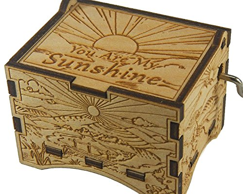 TheLaser'sEdge You Are My Sunshine, Personalizable Music Box, Laser Engraved Birch Wood (Artistic Standard) - Sunshine Box