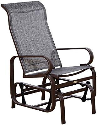 Amazon.com: Outsunny silla deslizante de tela para ...