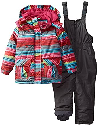 rugged bear little girls 39 snowsuit with. Black Bedroom Furniture Sets. Home Design Ideas