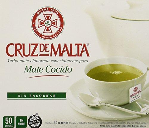 Yerba Mate Cruz de Malta - Mate Cocido - 50 tea bags by Cruz de Malta