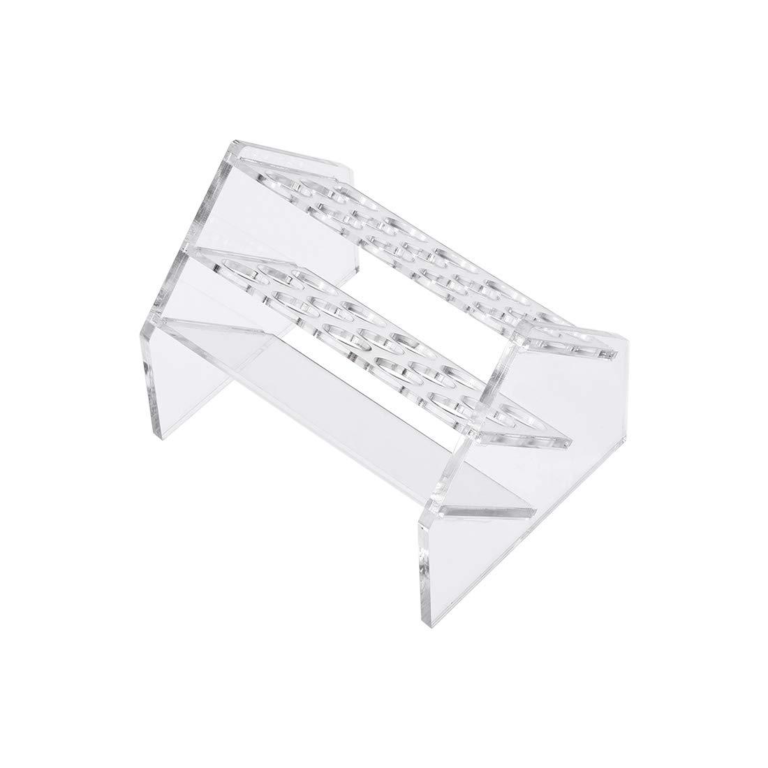 f/ür 50 ml transparent Acryl 30 mm Lochdurchmesser 10 Mulden Sourcing Map Reagenzglas-Gestell