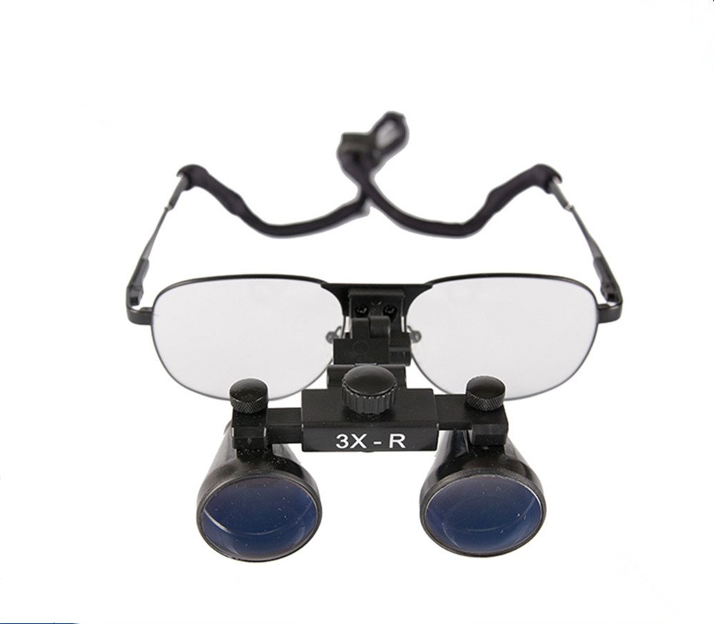 SoHome Dentist Medical Surgical Binocular Loupes 3.0X-R Metal Frame Magnifying Glasses Used with Surgical Headlight by SoHome