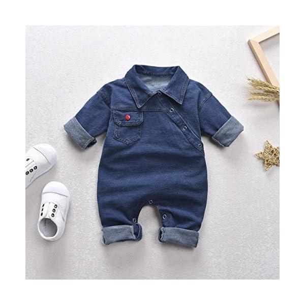 greatmtx - Tutina per neonato, in jeans 2