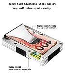 BapUp Metal RFID Minimalist Slim Wallets - Credit Card Holder Front Pocket Wallet (stainless steel Sliver)