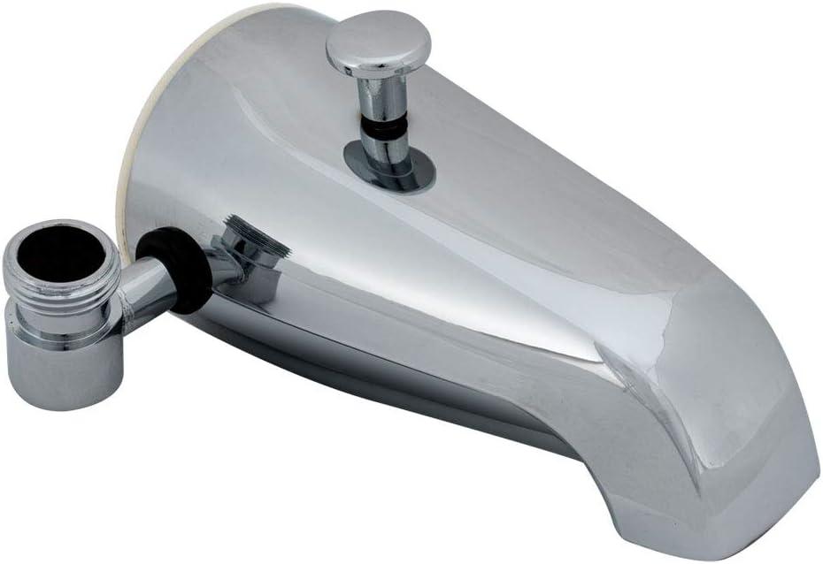 EZ-FLO 15087 Bath Tub Diverter Spout with Side Outlet, Chrome Finish