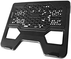 SeSDY Notebook Cooler Laptop Cooling Pad 15 Below Size Silent Fan, 12cm Large Fan, Shark Bionic Design, USB Expansion Interface - Black