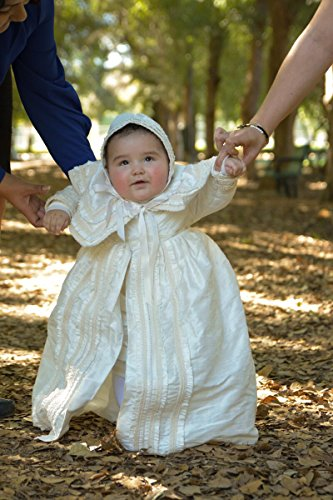 Heirloom Baby Boy's Christening Baptism Gown, Hand Made Ivory (Burbvus Ropones) by Burbvus (Image #2)