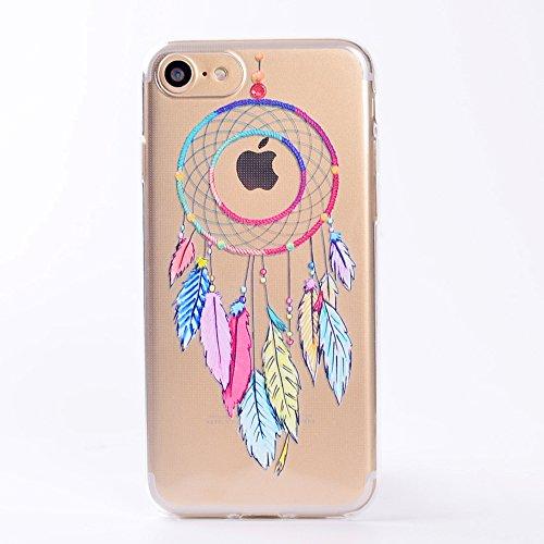 iPhone 7 Hülle , Leiai Windspiele TPU Transparent Weich Tasche Schutzhülle Silikon Handyhülle Stoßdämpfende Clear Schale Fall Case Shell für Apple iPhone 7