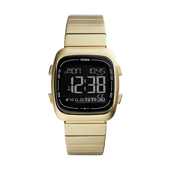 Amazon.com: Fossil Mens Rutherford Quartz Stainless Steel Digital Watch Color: Gold (Model: FS5449): Watches