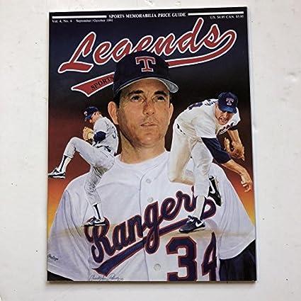 1991 Legends Magazine Nolan Ryan Cover Price Guide Vol 4 No 4