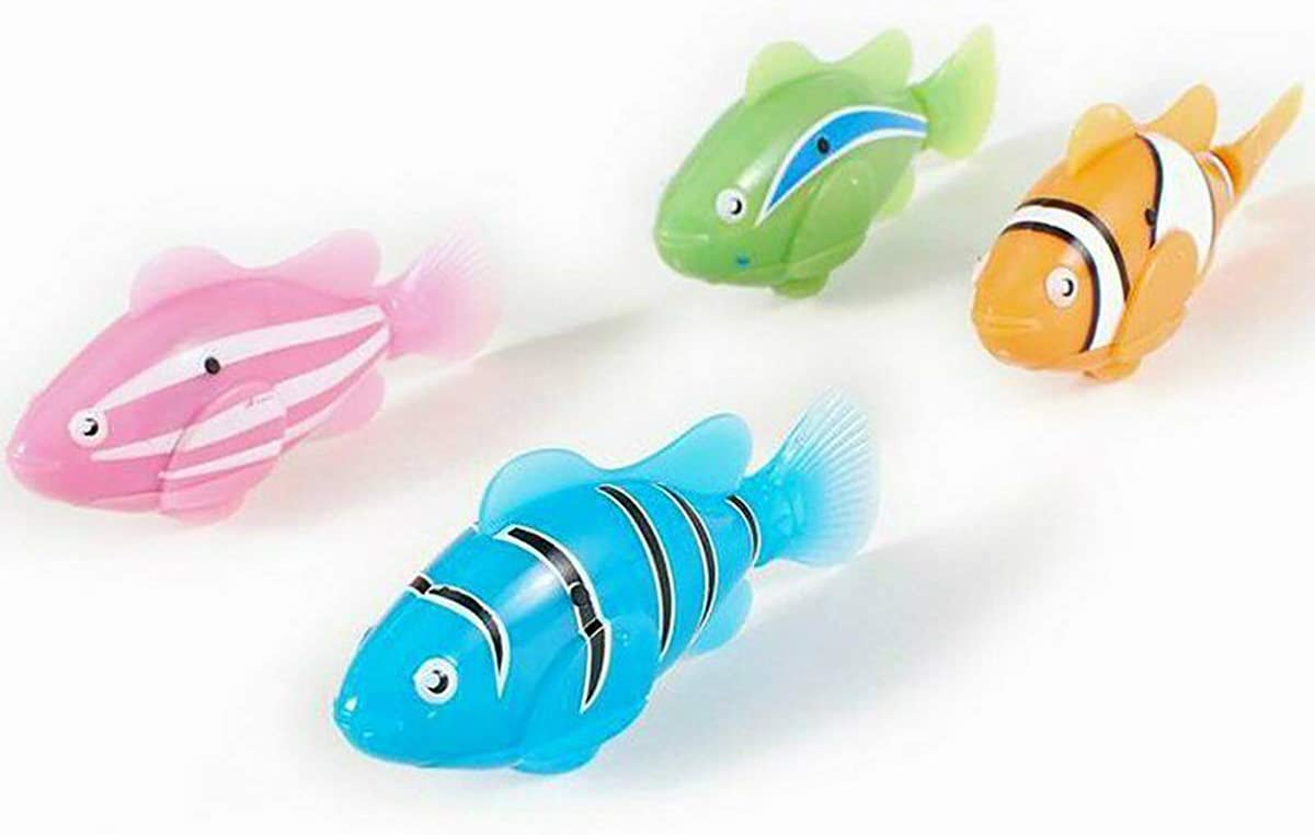 Swimming Robot Fish Activated in Water Robotic Fish Electric Turbot Clownfish Battery Powered Electric Swimming Diving Floating Robo Fish Water-Activated Bathtub Toy for Children Kids Toddler