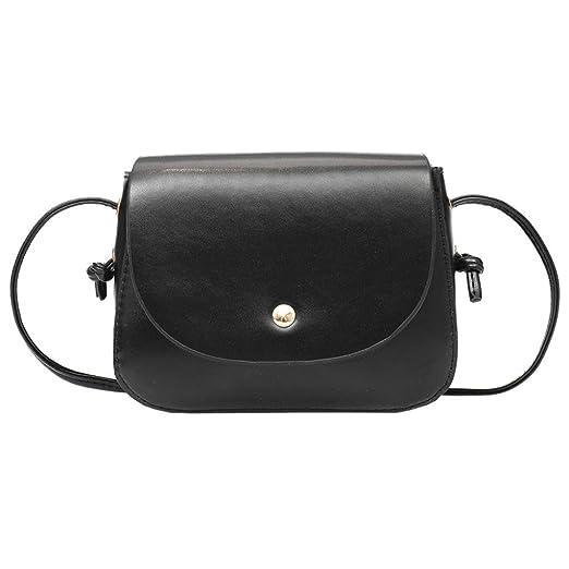 af29676f0740 Women Crossbody Backpack Purse Small Pu Leather Shoulder Bag Ladies Cute  Messenger Satchel Bag (Black