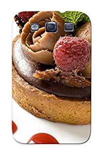 Quality Eatcooment Case Cover With Chocolate And Raspberry Tart Nice Appearance Compatible With Galaxy S3()