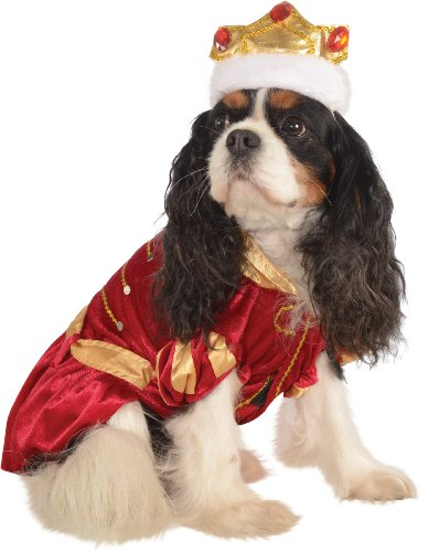 King Dog Pet Costume - Rubie's Pet Costume, Medium, Red King